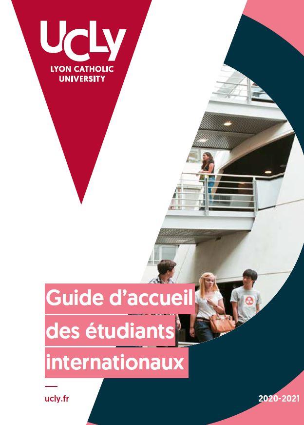 1ère de couverture du guide d'accueil des étudiants internationaux - UCLY